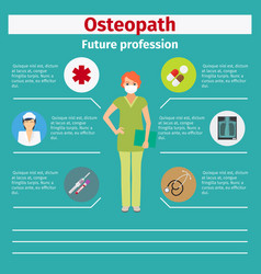 future profession osteopath infographic vector image