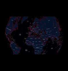 futuristic interface world map with global vector image