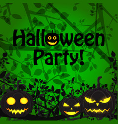 Halloween party scary template vector