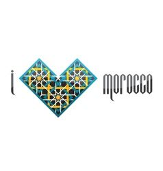 I love Morocco iluustration vector