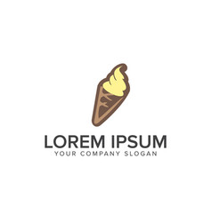 ice cream logo design concept template vector image