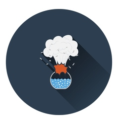 Icon explosion of chemistry flask vector