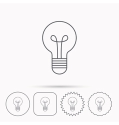 Lamp icon Idea and solution sign vector image