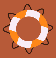 Life buoy isolated high quality detailed vector