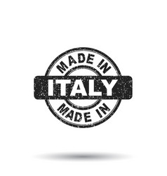 made in italy stamp on white background vector image