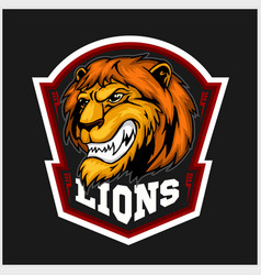 mascot lions - sport team logo template lion head vector image