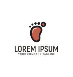 Minimalist footprint logo design concept template vector