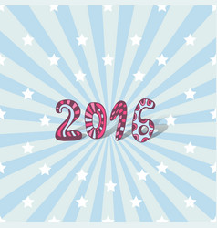 new year background 2016 cute lettering card vector image