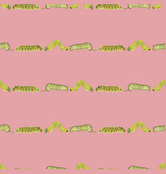 pink pattern with caterpillar vector image