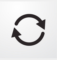 Refresh reload sign icon flat design styl vector