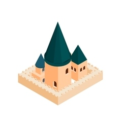 Roman Catholic church isometric 3d icon vector image