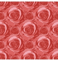 Seamless background with colored roses vector image