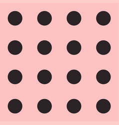Seamless polka dot pattern black dots on pink vector
