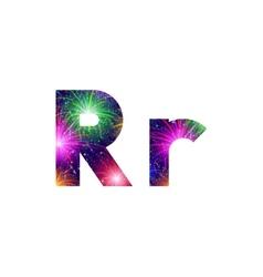 Set of letters firework R vector image