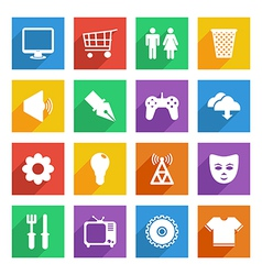 social media icons set 2 vector image vector image