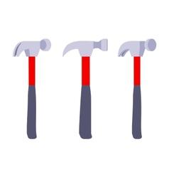 Standing hammers vector image