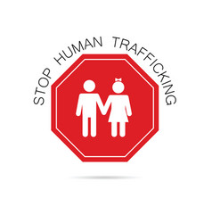 Stop human trafficking sign vector