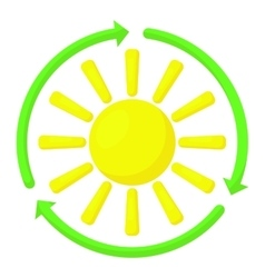 Sun icon cartoon style vector