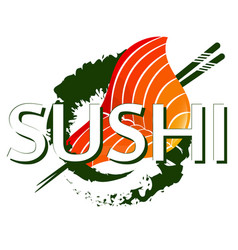 Sushi and sticks design vector