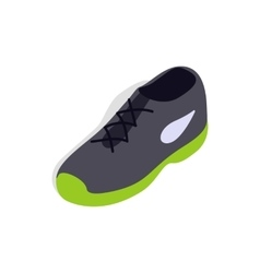 Tennis shoe icon isometric 3d style vector image
