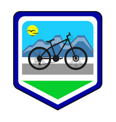 The cycling community logo vector