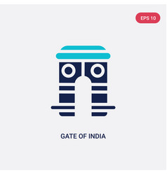 two color gate india icon from india concept vector image
