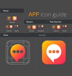 Ui ios button icons design guidelines for web and vector