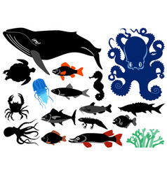 underwater life vector image
