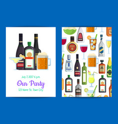 vertical invitation template party vector image