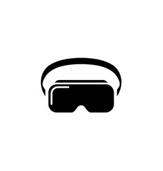 vr headset icon virtual reality device glasses on vector image