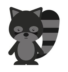woodland raccoon animal character cute icon vector image