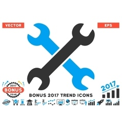 Wrenches Flat Icon With 2017 Bonus Trend vector