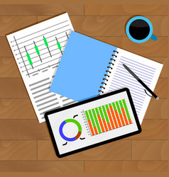analysis of statistical data vector image