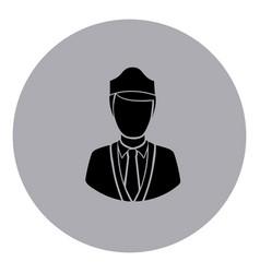blue emblem guard person icon vector image vector image
