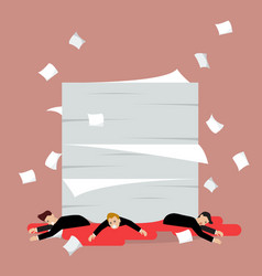businessmen under a lot of documents vector image vector image
