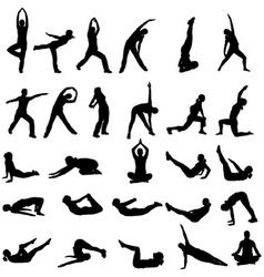 girl exercising vector image