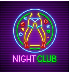 striptease club neon sign vector image