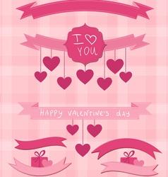 valentine ribbons vector image