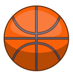basketball ball icon cartoon style vector image