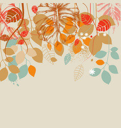 fall leaves background vector image vector image