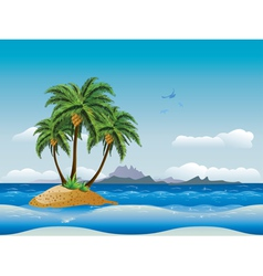 Tropical island in the ocean2 vector image vector image