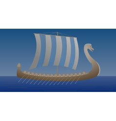 Viking Drakkar by night vector image vector image