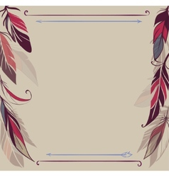 Vintage background with hand drawn feathers vector image vector image