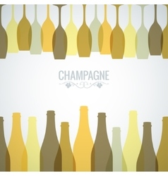 champagne bottle glass design background vector image vector image
