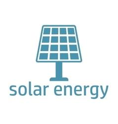 green energy logo solar panel vector image vector image