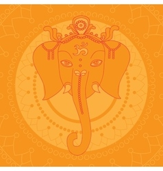 Greeting Beautiful card with Elephant Design vector image