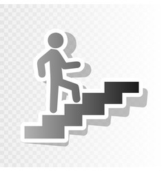 man on stairs going up new year blackish vector image vector image