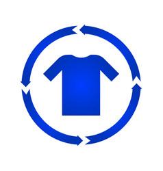 t-shirt turn icon vector image