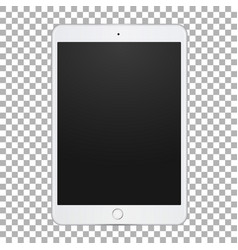 white tablet with empty screen digital vector image