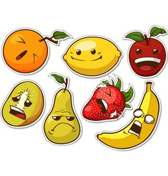 Funny Fruit with Expression vector image
